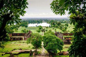 View from the top of Vat Phou site