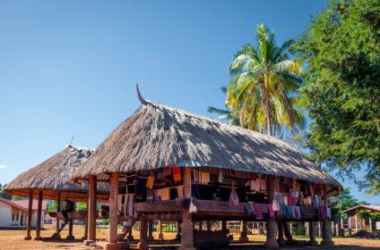Ban Pai a Katou ethnic village in Sekong