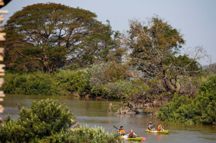 Kayaking on the Four Thousand Islands (Si Phan Don)Champasak Province, Khong District,Lao PDR.2014